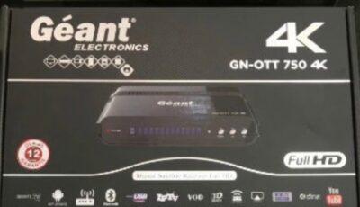 سعر ومواصفات رسيفر Geant 750 4k وملف قنوات محدث
